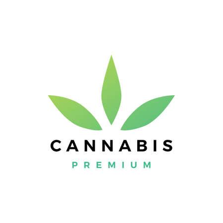 cannabis logo vector icon illustration