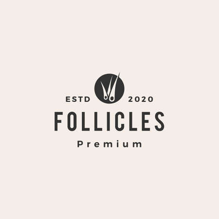 follicle hipster vintage logo vector icon illustration