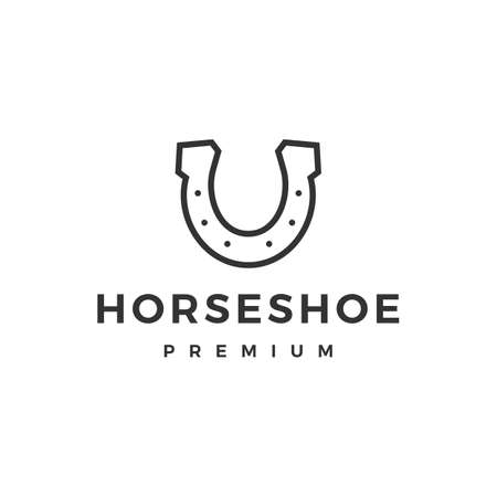 horse shoe u logo vector icon illustration