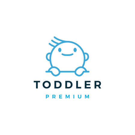 baby toddler logo vector icon illustration