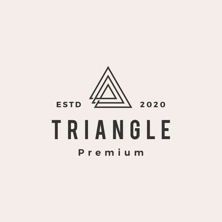 triangle hipster vintage logo vector icon illustration