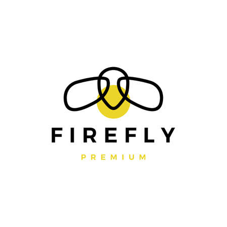 firefly logo vector icon illustration  イラスト・ベクター素材