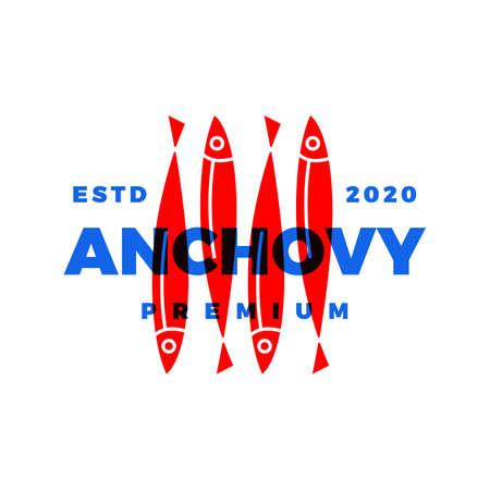 anchovy logo vector icon illustration  イラスト・ベクター素材