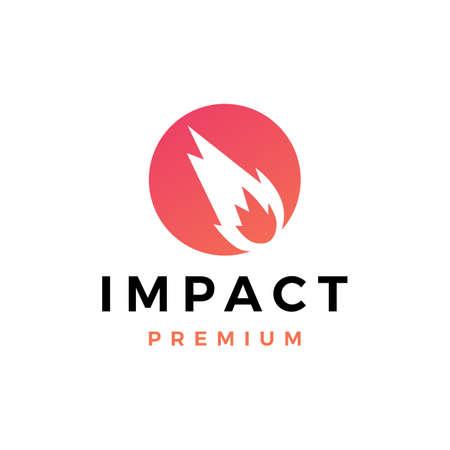impact logo vector icon illustration