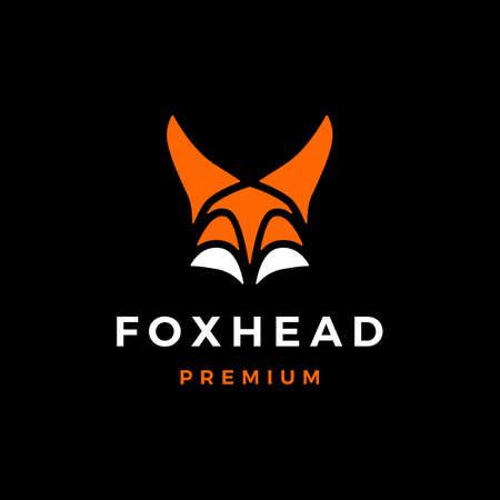 fox head logo vector icon illustration  イラスト・ベクター素材