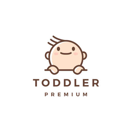 baby toddler logo vector icon illustration