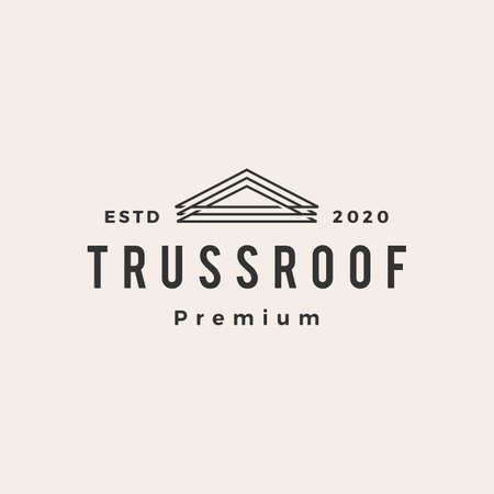 truss roof house hipster vintage logo vector icon illustration