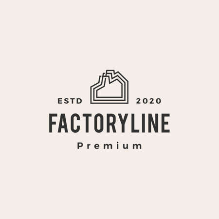 factory hipster vintage logo vector icon illustration