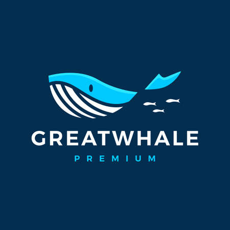 whale logo vector icon illustration