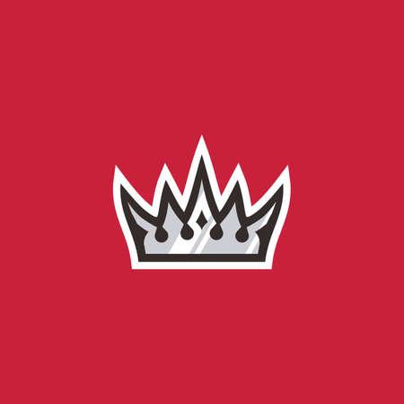 king crown sport logo vector icon illustration