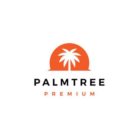 palm tree logo vector icon illustration
