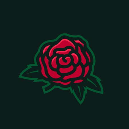 wild rose e sport logo vector icon illustration