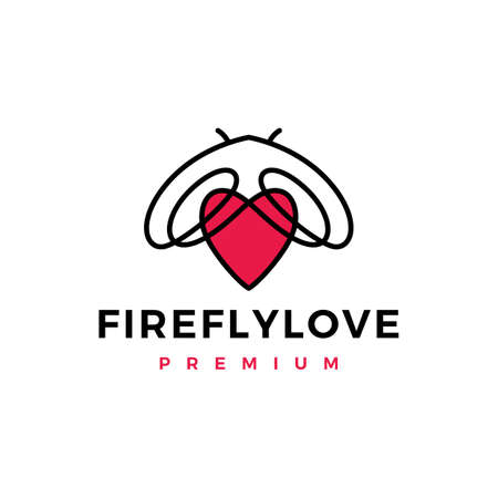 firefly love logo vector icon illustration