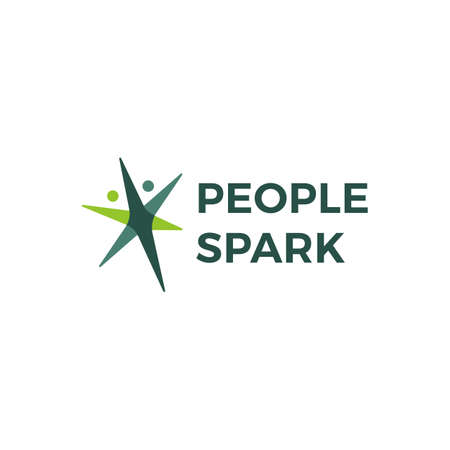 people spark health active logo vector icon illustration Illustration