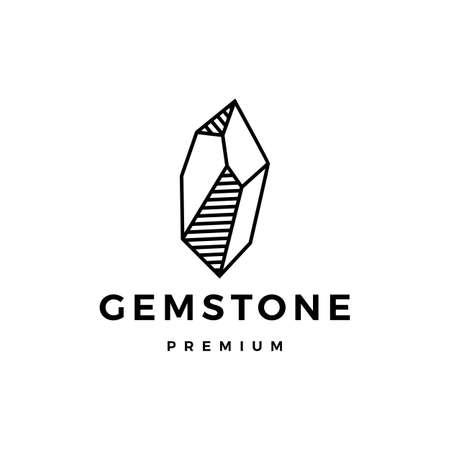 stone gem gemstone logo vector icon illustration Illusztráció