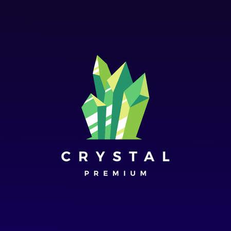 crystal gem stone logo vector icon illustration Illusztráció