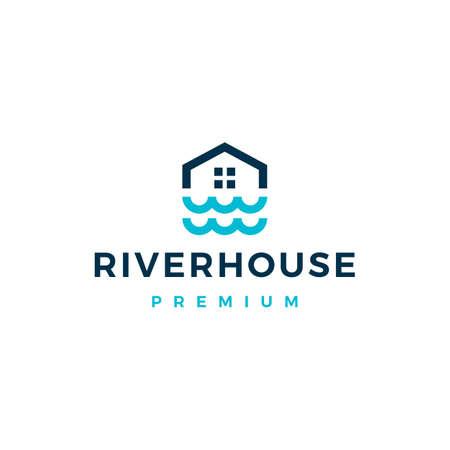river house home mortgage logo vector icon illustration Illusztráció