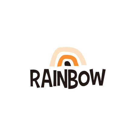 rainbow abstract shape