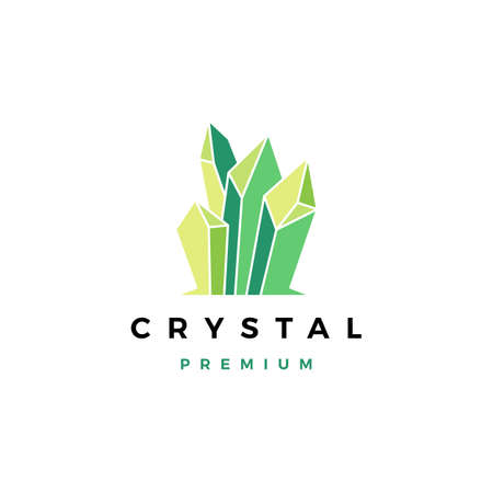 crystal gem stone vector icon illustration