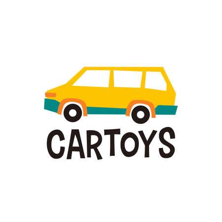 car toys  vector icon illustration Illusztráció