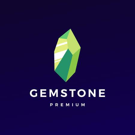 stone gem gemstone  vector icon illustration