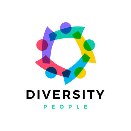 diversity people family team work  vector icon illustration