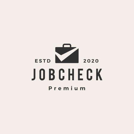 job check hipster vintage  vector icon illustration Illusztráció