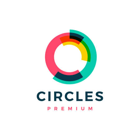abstract circle overlapping color  vector icon illustration Illusztráció