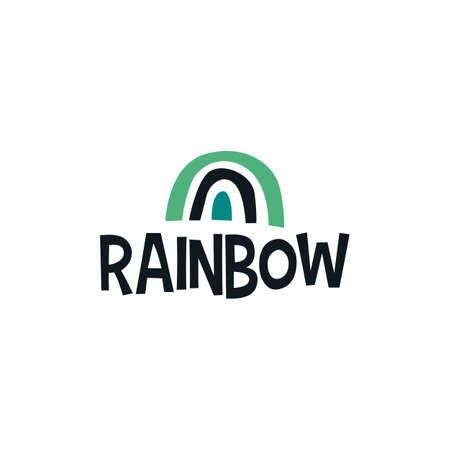 rainbow abstract shape  vector icon illustration