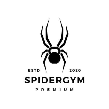 spider gym kettlebell fitness logo vector icon illustration Illusztráció
