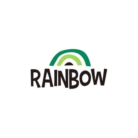 rainbow abstract shape logo vector icon illustration
