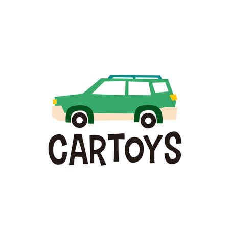 car toys logo vector icon illustration