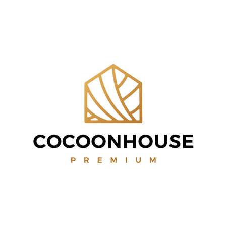 cocoon house logo vector icon illustration