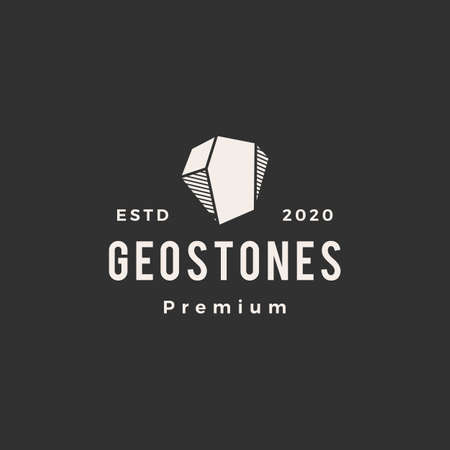 geometric stone gems hipster vintage logo vector icon illustration