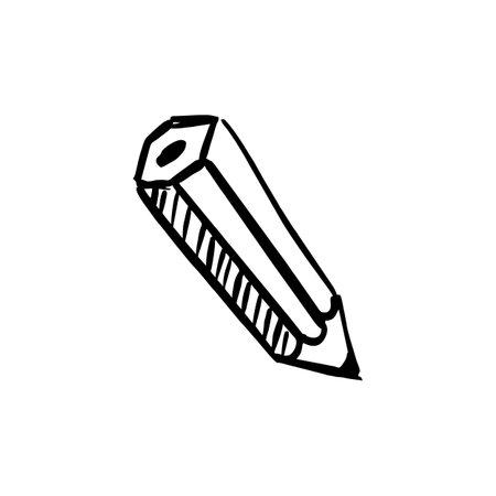 pencil doodle logo vector icon illustration