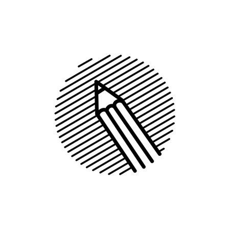 pencil engrave logo vector icon illustration
