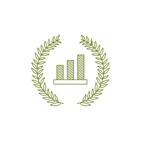 bar chart vintage traditional logo vector icon illustration Illustration