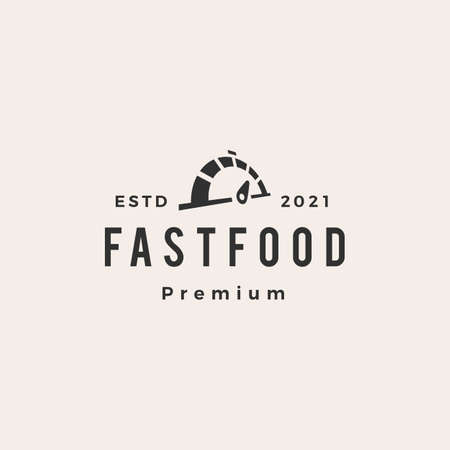 fast food dial hipster vintage logo vector icon illustration