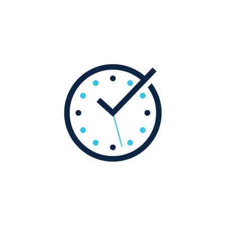 time check clock logo vector icon illustration