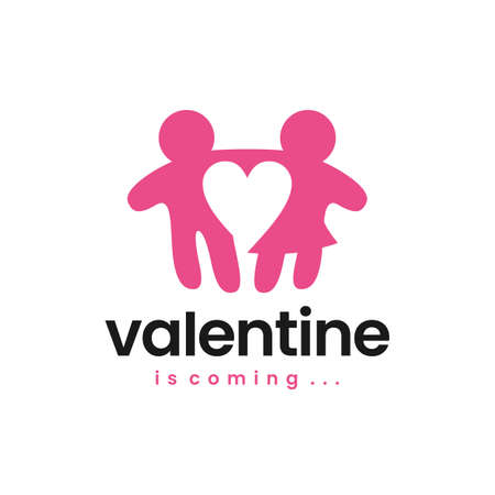 valentine man woman boy girl love logo vector icon illustration Vectores