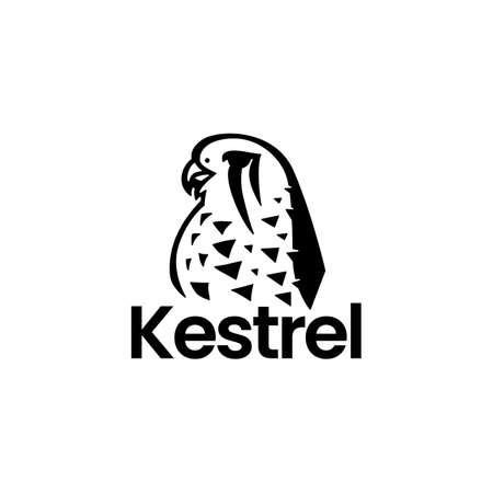 kestrel bird logo vector icon illustration Vectores