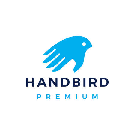 hand bird vector icon illustration