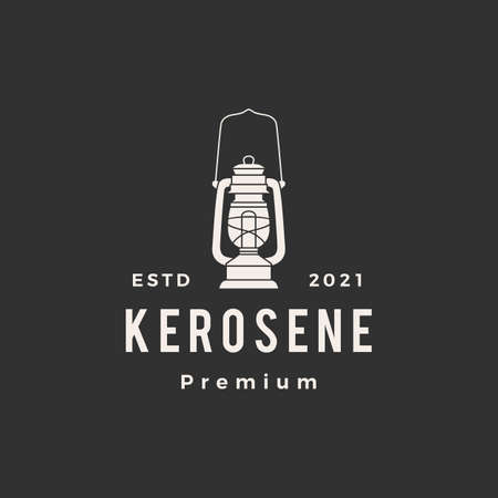 kerosene lantern hipster vintage logo vector icon illustration