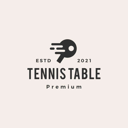 tennis table hipster vintage logo vector icon illustration
