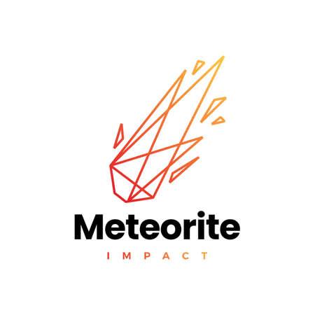 meteor impact geometric polygonal logo vector icon illustration