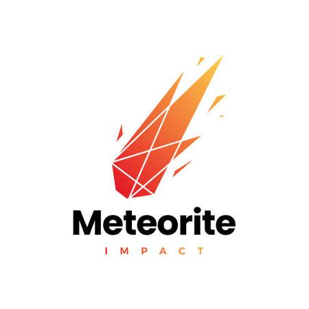 meteorite impact geometric polygonal logo vector icon illustration