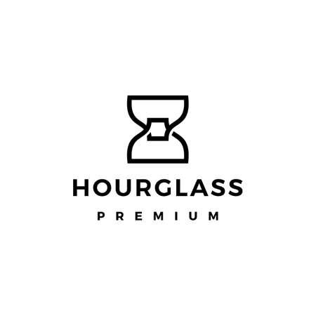 hourglass logo vector icon illustration Ilustrace