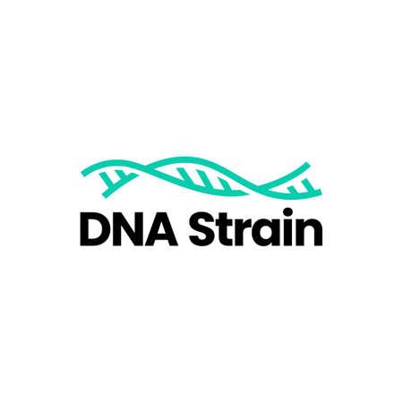 DNA strain logo vector icon illustration