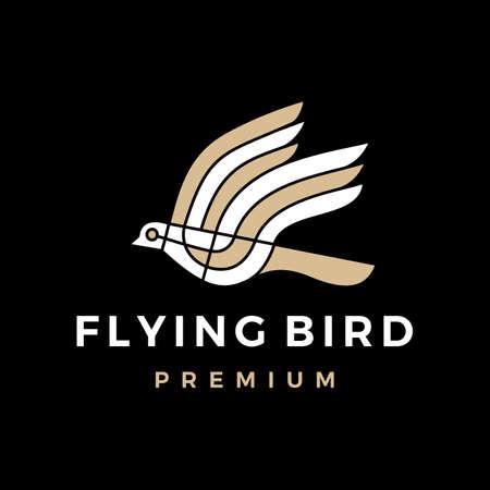 flying bird logo vector icon illustration