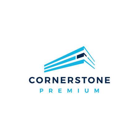 cornerstone logo vector icon illustration